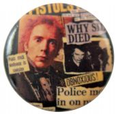 Sex Pistols - 'Johnny News Clippings' Button Badge